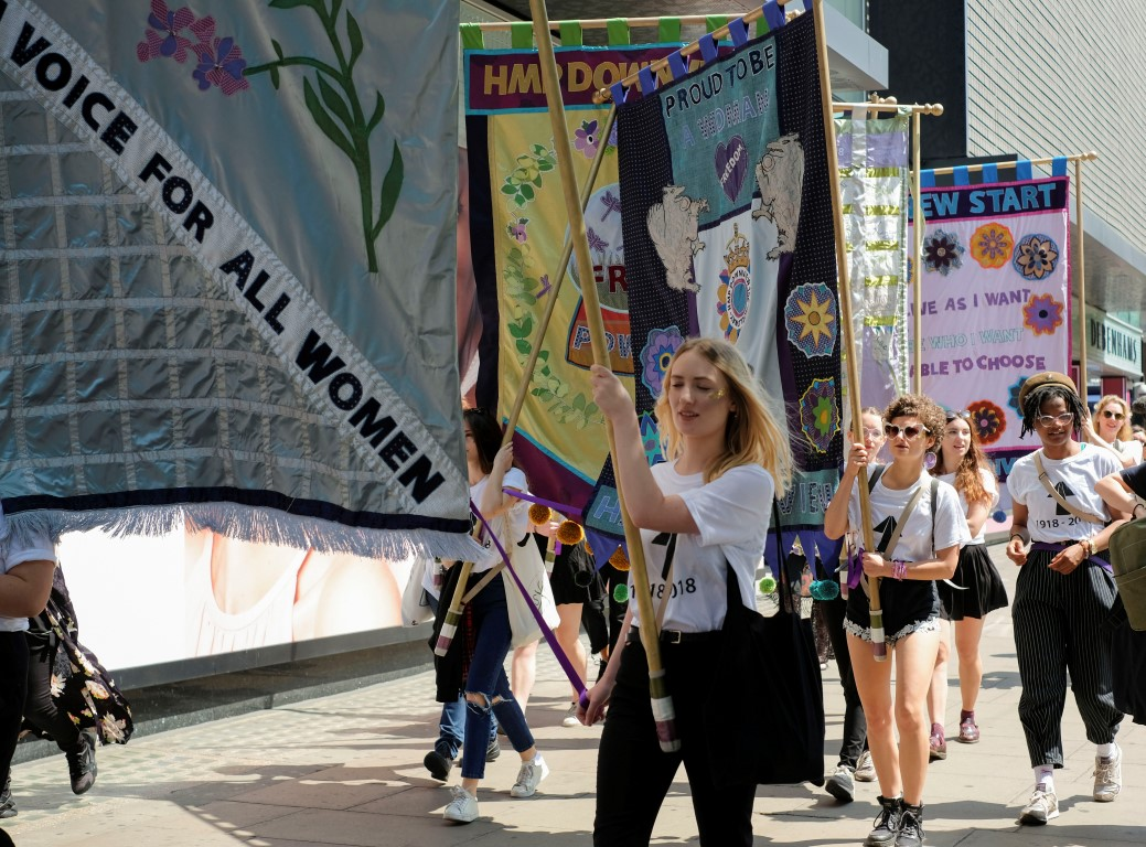 lucy orta procession banners